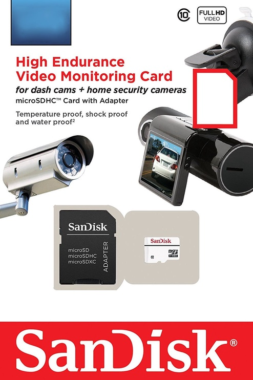 Sandisk High Endurance Video Monitoring 64GB microSDHC Class10