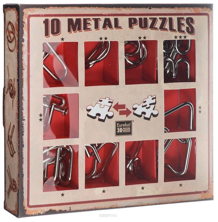 Galda spēle Eureka! 10 Metal Puzzle Red