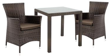 Home4you Wicker Garden Furniture Set 3pcs