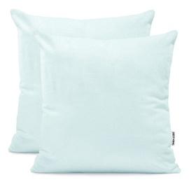 DecoKing Amber Pillowcase 80x80 Frozen Blue 2pcs