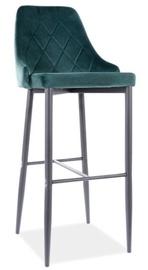 Bāra krēsls Signal Meble Modern Trix B H-1 Velvet, zaļa