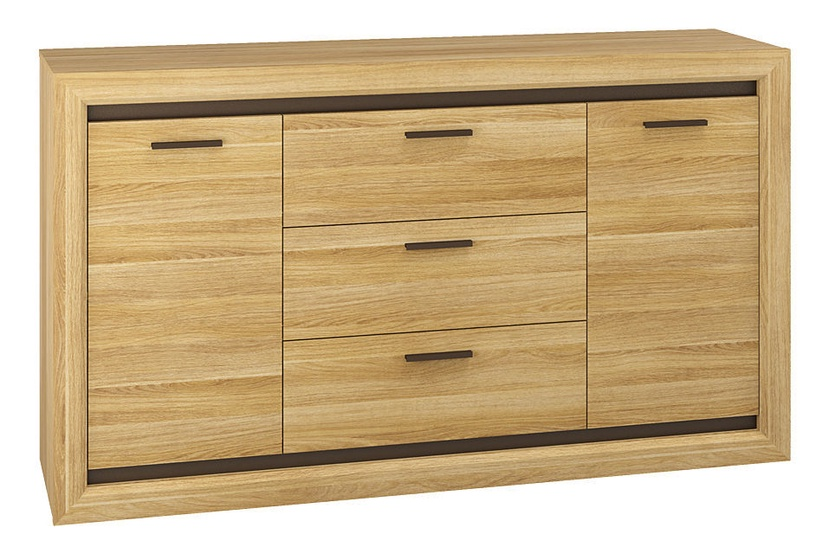 MN Chest Of Drawers Baltica 08 Oak Black
