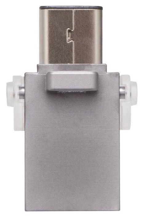 USB atmintinė Kingston DataTraveler microDuo 3C White, USB 3.1, 64 GB
