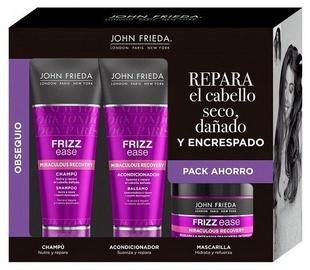 Šampūnas + Plaukų kondicionierius + Kaukė plaukams John Frieda Frizz Ease, 3x250 ml