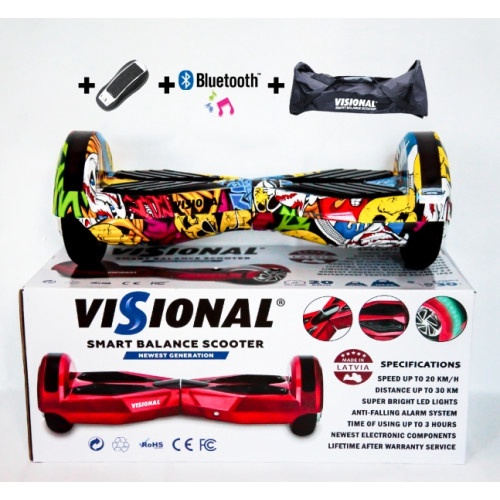 Visional Hoverboard 8'' With Bluetooth Sticker Boom