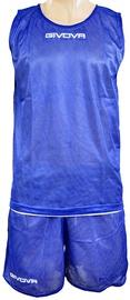 Komplekt Givova Double Basketball Set Blue White L