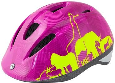Шлем Force Fun Animal, желтый/розовый, S, 480 - 540 мм