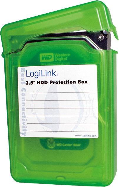 "LogiLink UA0133 3.5"" HDD Protection Box Green"
