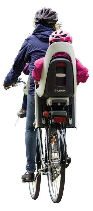 Детское кресло для велосипеда Hamax Caress With Lockable Bracket 553001, белый/серый, задняя