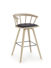 Halmar H-78 Bar Stool Black
