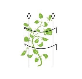 Augalų atrama, metalinė, žalia, 90 cm