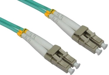 Intellinet Fiber Optic Patch Cable OM3 Multimode LC-LC Green 2m