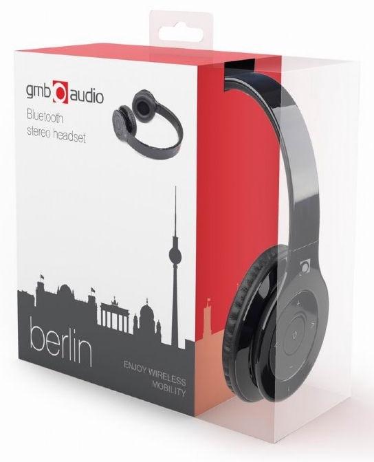 Ausinės Gembird Berlin Black, belaidės
