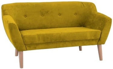 Sofa Signal Meble Bergen 2 Yellow, 139 x 54 x 76 cm