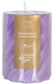 Home4you Candle Pure Colour D6.8xH9.5cm Purple