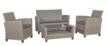 Home4you Malmo Garden Furniture Set Grey/Beige