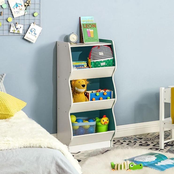 Songmics Toy Storage Shelf White/Blue
