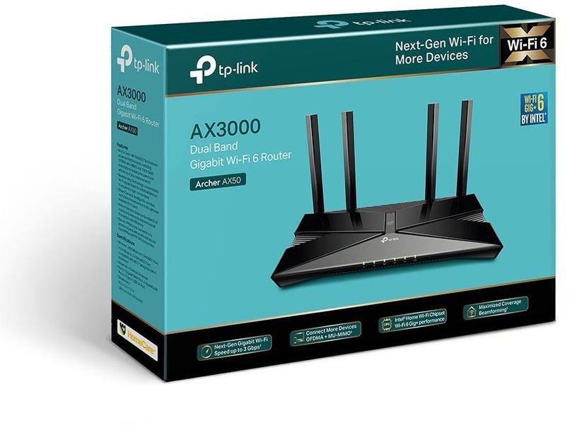 Maršrutizatorius TP-Link AX50 AX3000 Dual Band Gigabit Wi-Fi 6