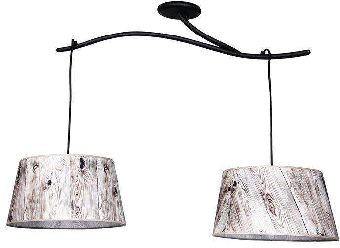 Wofi Ancona 3x60W E27 Black/Wood 060201