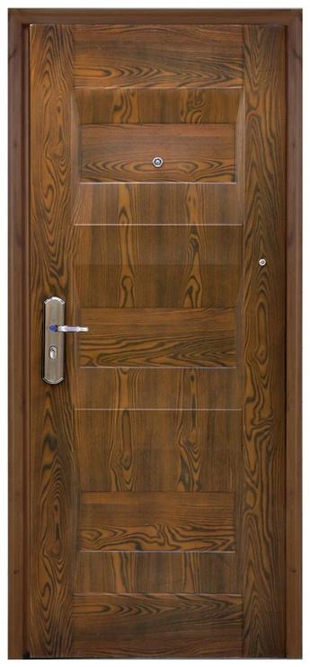 Plieninės vidaus durys JCA01, rudos, dešininės, 86x205 cm