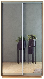 Garant-NV Wardrobe w/ 2 Sliding Doors & Mirror 120x240x60cm Sonoma Oak