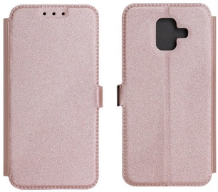 TakeMe Super Slim Shine Book Case For Samsung Galaxy J4 Plus J415 Rose Gold