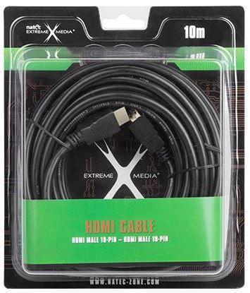 Natec Cable HDMI to HDMI Black 10m