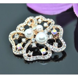 Vincento Brooch With Zirconium Crystal LD-1090