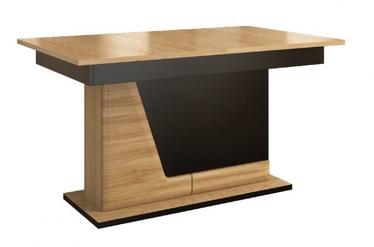 Pusdienu galds Mebin Smart Natural Oak/Black, 2280x900x790 mm