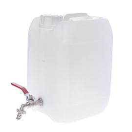 Plastikinis maistinis bakelis su čiaupu, 10 l