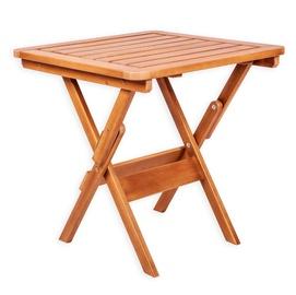 Dārza galds Folkland Timber Heini-2 074, brūna, 70 x 70 x 73 cm