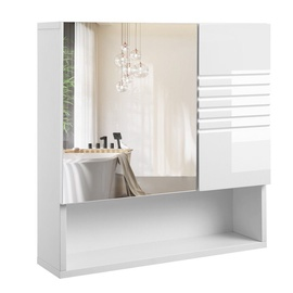 Kapp Songmics Wall Cabinet With Mirror White 54x55cm