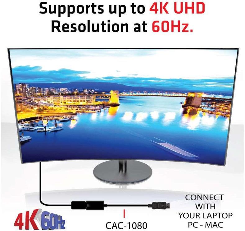 Club 3D DisplayPort 1.4 - HDMI 2.0b HDR Active Adapter Black