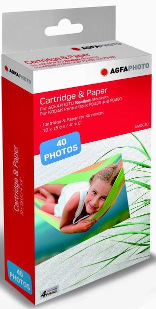 AgfaPhoto Cartridge & Paper AMOC80