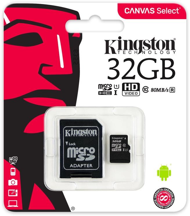 Mälukaart Kingston, 32 GB
