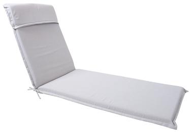 Home4you Florida Deck Chair Pad 60x200x7cm Light Grey