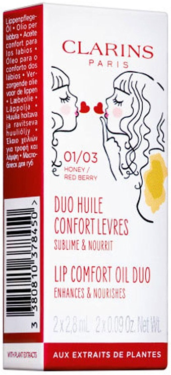 Масло Clarins Pick & Love Lip Comfort Oil Duo 2x8ml