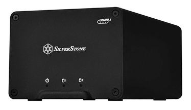 "SilverStone External Enclosure DS223 2.5"" HDD/SSD USB 3.1 Black"