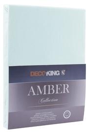 DecoKing Amber Bedsheet 100-120x200 Frozen Blue