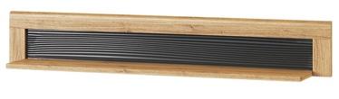 Szynaka Meble Kama 35 Wall Shelf Camargue Oak/Black Matt