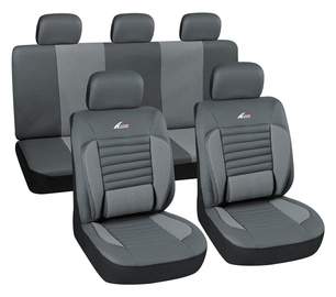 Autoserio Seat Cover Set AG-28822/4 8pcs Gray