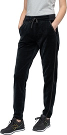 Audimas Cotton Velour Sweatpants Black 168/L