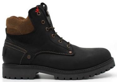 Wrangler Yuma Fur Leather Winter Boots Black/Dark Brown 43
