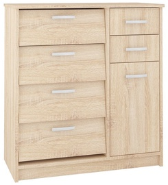 Apavu plaukts ML Meble ML 09 Sonoma Oak, 800x400x830 mm