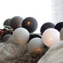 Girlianda Kamuoliukai, pilki, 20 LED, 2.2 m
