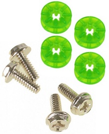 Lamptron HDD Rubber Screws PRO UV Green