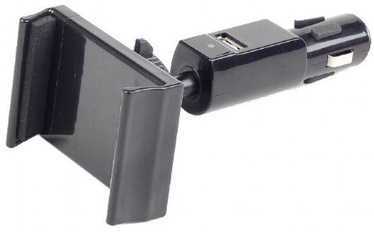 Gembird Car Holder With Charger Black
