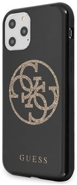 Guess Glitter 4G Circle Logo Back Case For Apple iPhone 11 Pro Black