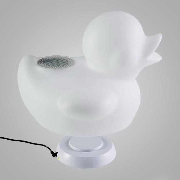 Belaidė kolonėlė Bigben Lumin'us Duck White, 15 W