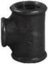 """STP Fittings Cast Iron Reducing 3-Way Connector Black 2""""x1 1/2"""""""